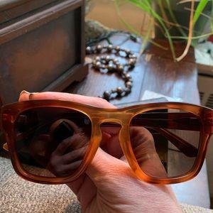 Authentic Gucci 49m Havana Acetate sunglasses